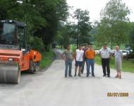 urejanje cestnih odsekov, julij 2009